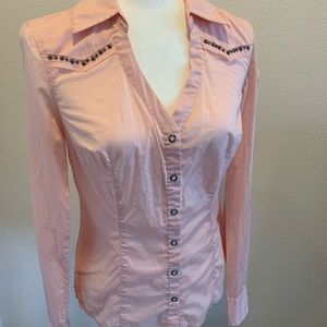 Guess Jeans Powder Pink Western Inspired Shirt M